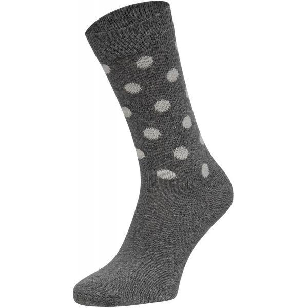 Cashmere wollen sokken met stippen motief