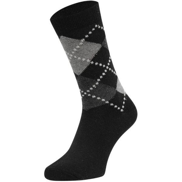 Cashmere wollen sokken met ruiten motief