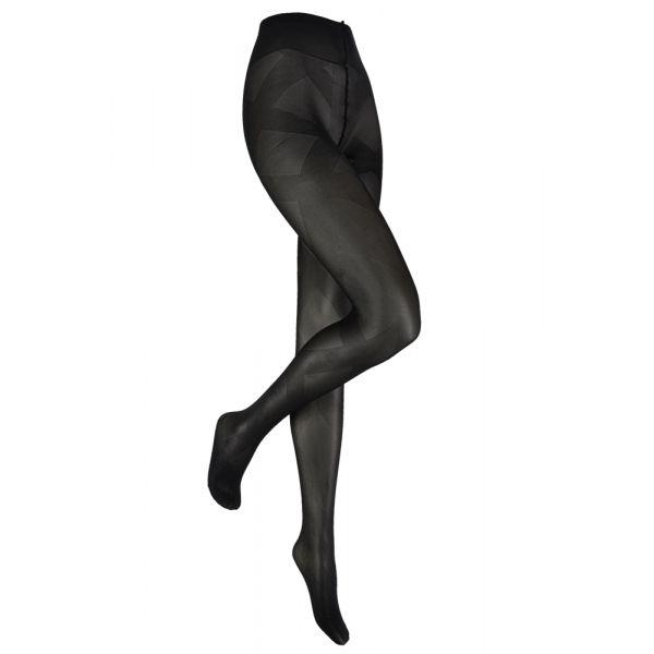 Fantasie Panty met gekruisde banden motief