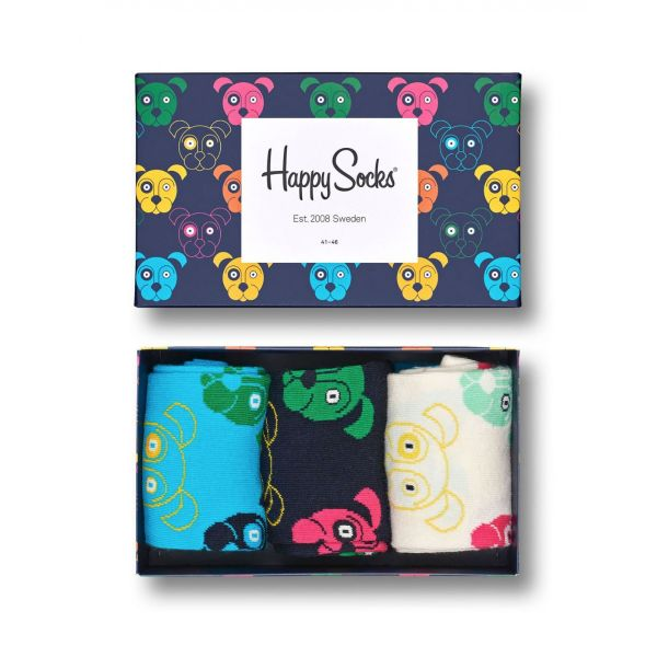 Mixed dog sokken giftbox 3-pack