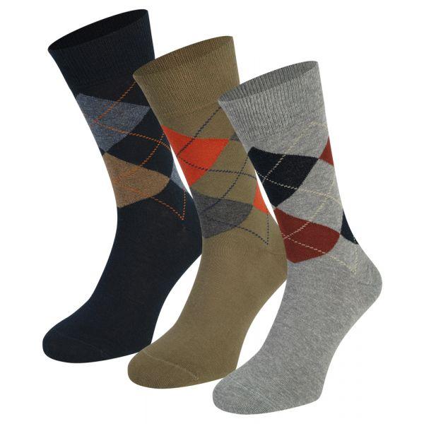 Herensokken met Ruit 3-pack | Teckel | sokken online