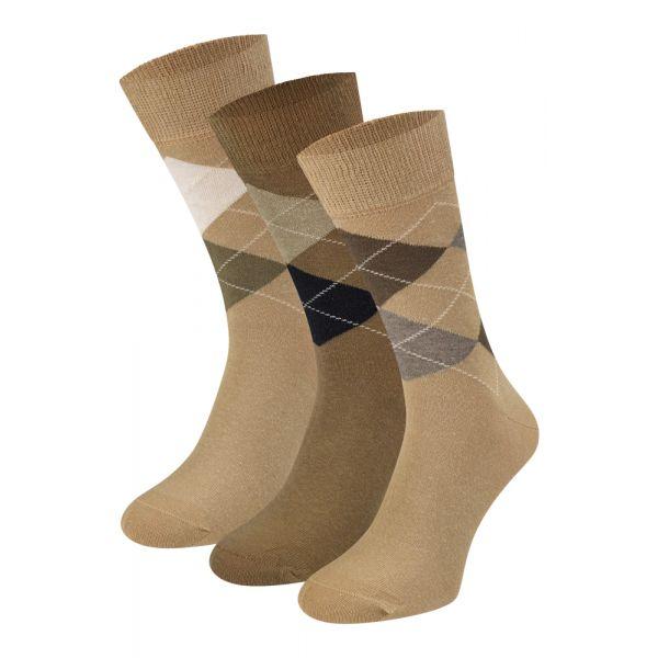 Heren sokken met ruiten motief sokken-online.nl teckel