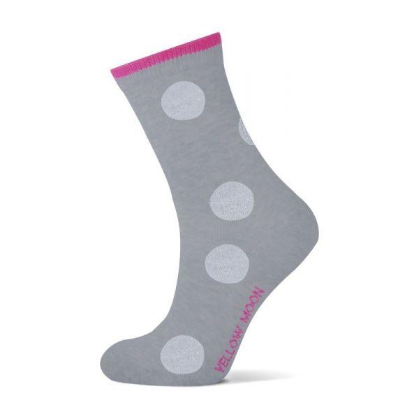 Katoenen meiden sokken met  LUREX Stippen.