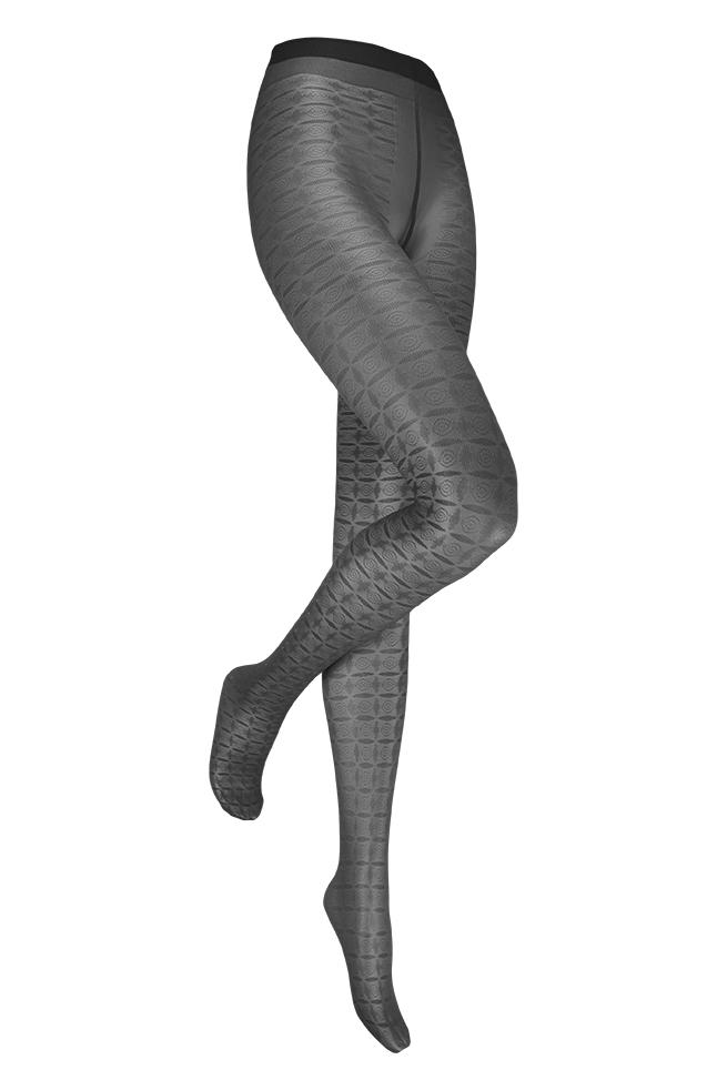 Alexia 30 denier fantasie panty-Black-L/XL