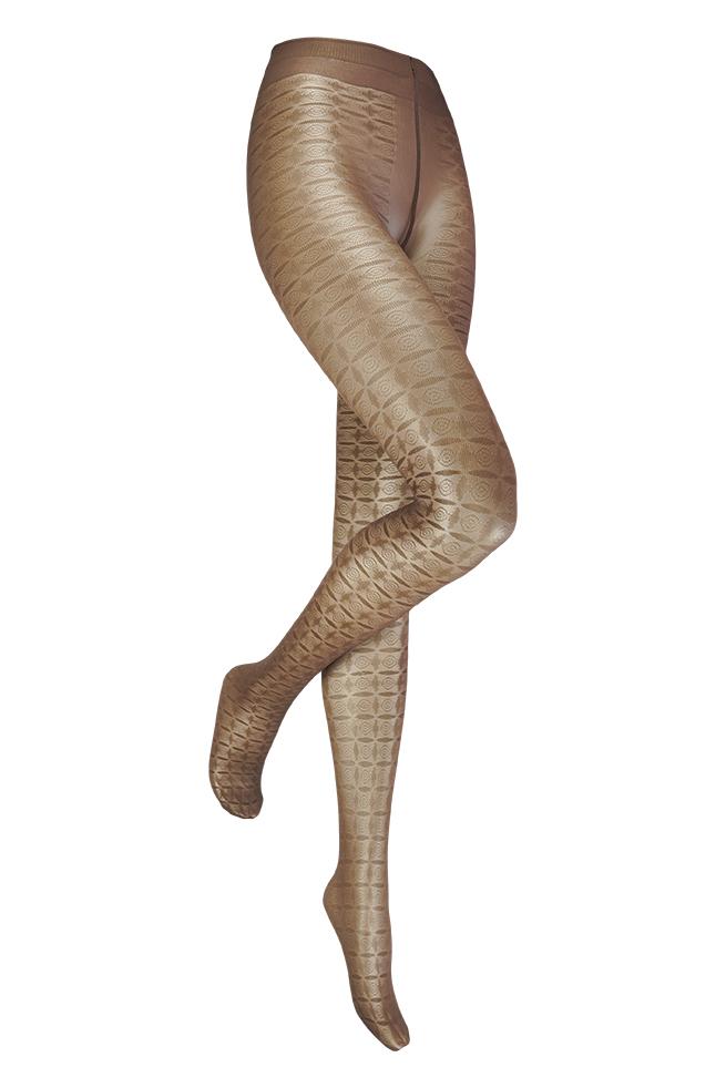 Alexia 30 denier fantasie panty-Brown-L/XL