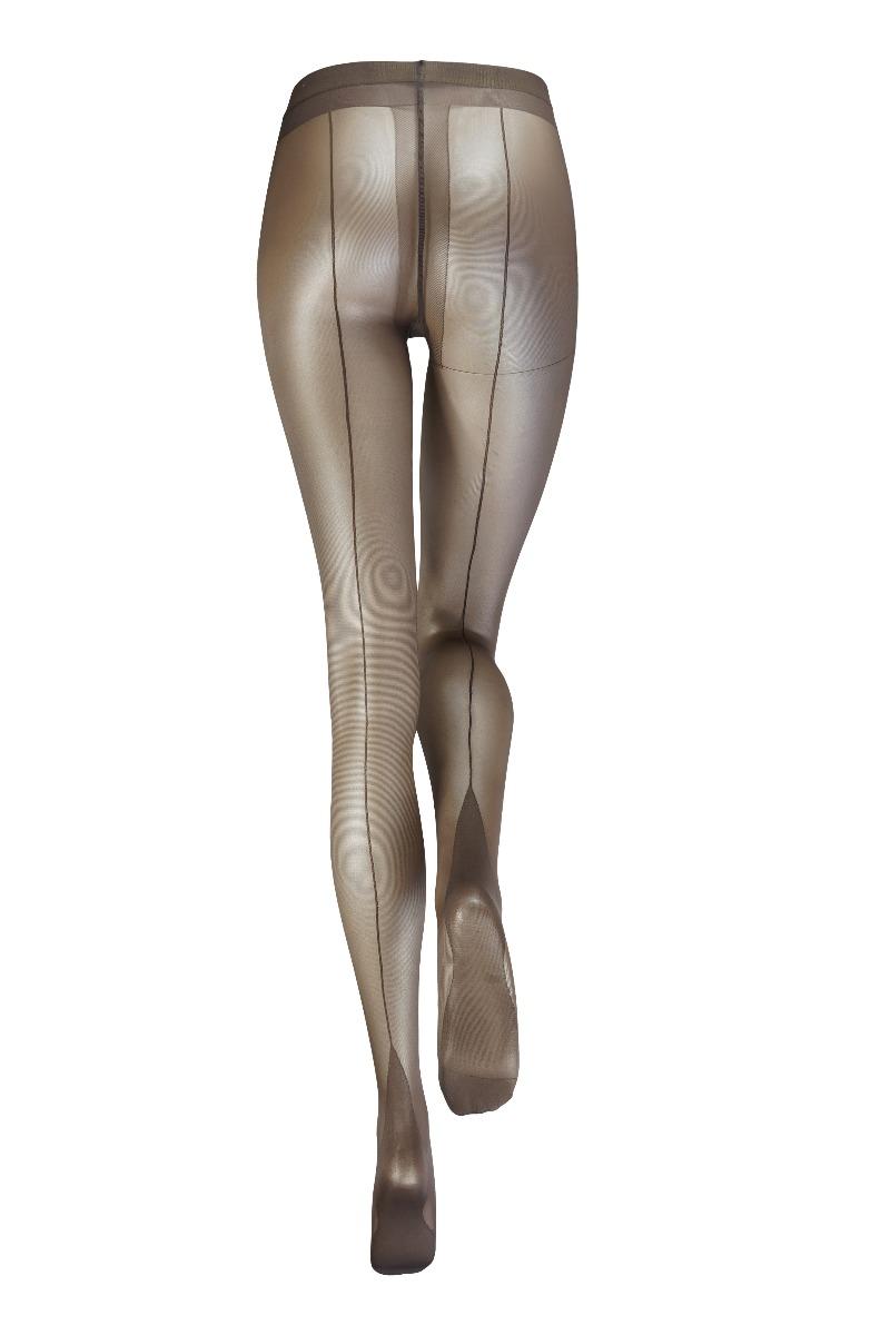 20 denier Panty met naad -L/XL-Brown