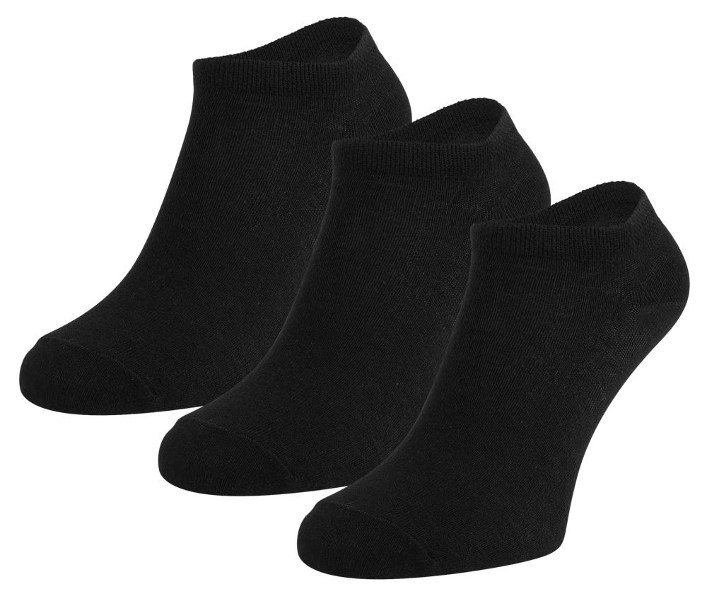 Sneakersokken van katoen -Black-31/34