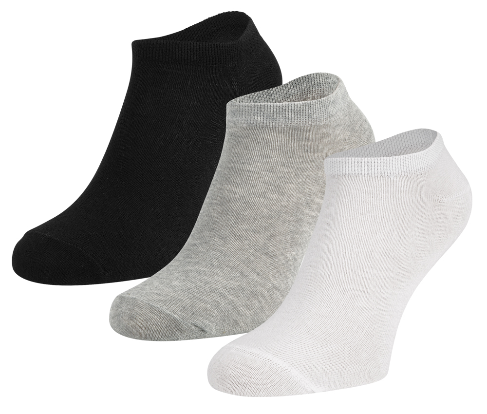 Ewers Sneakersokken 3-pack-Black white-39/42