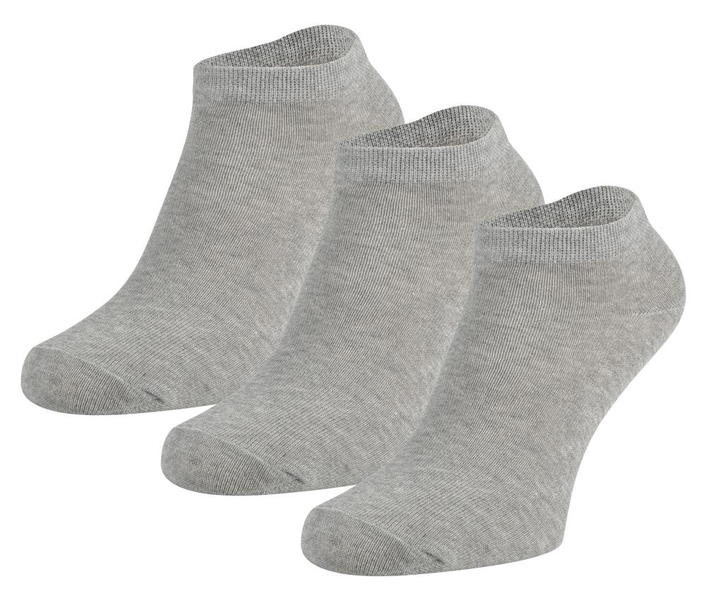Sneakersokken van katoen -Grey melange-19/22