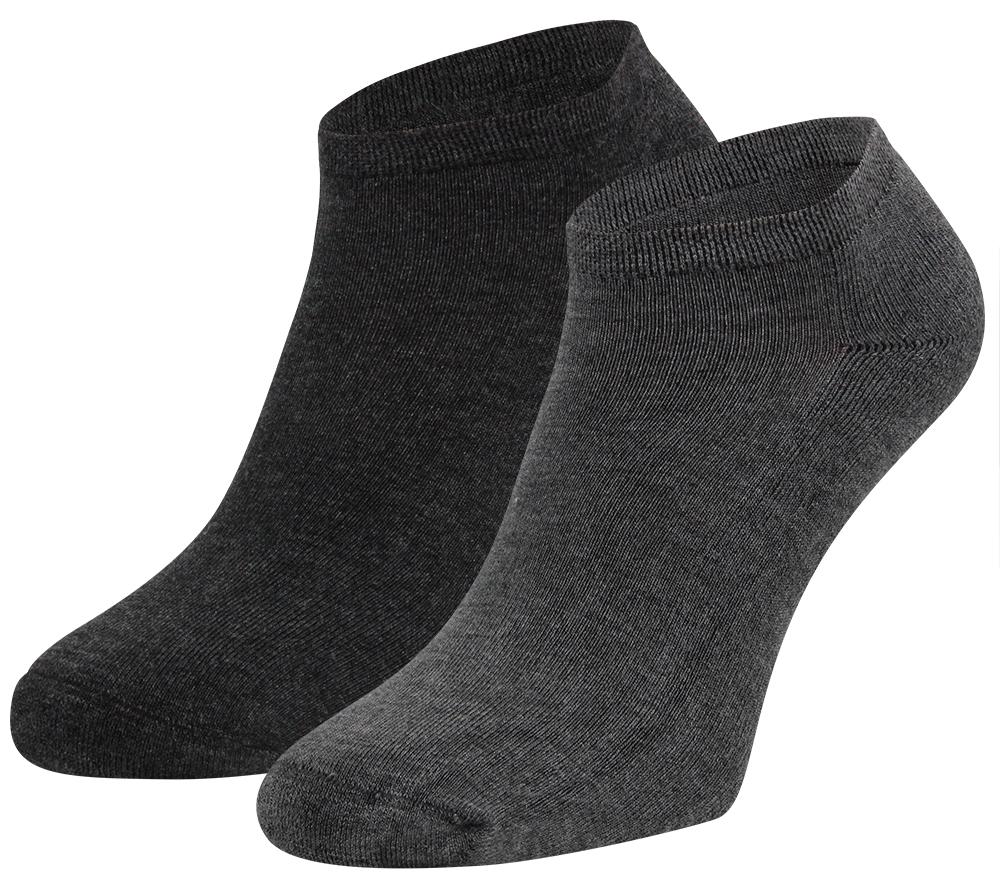 Bamboe sneakersokken met badstof zool-40/46-Grey