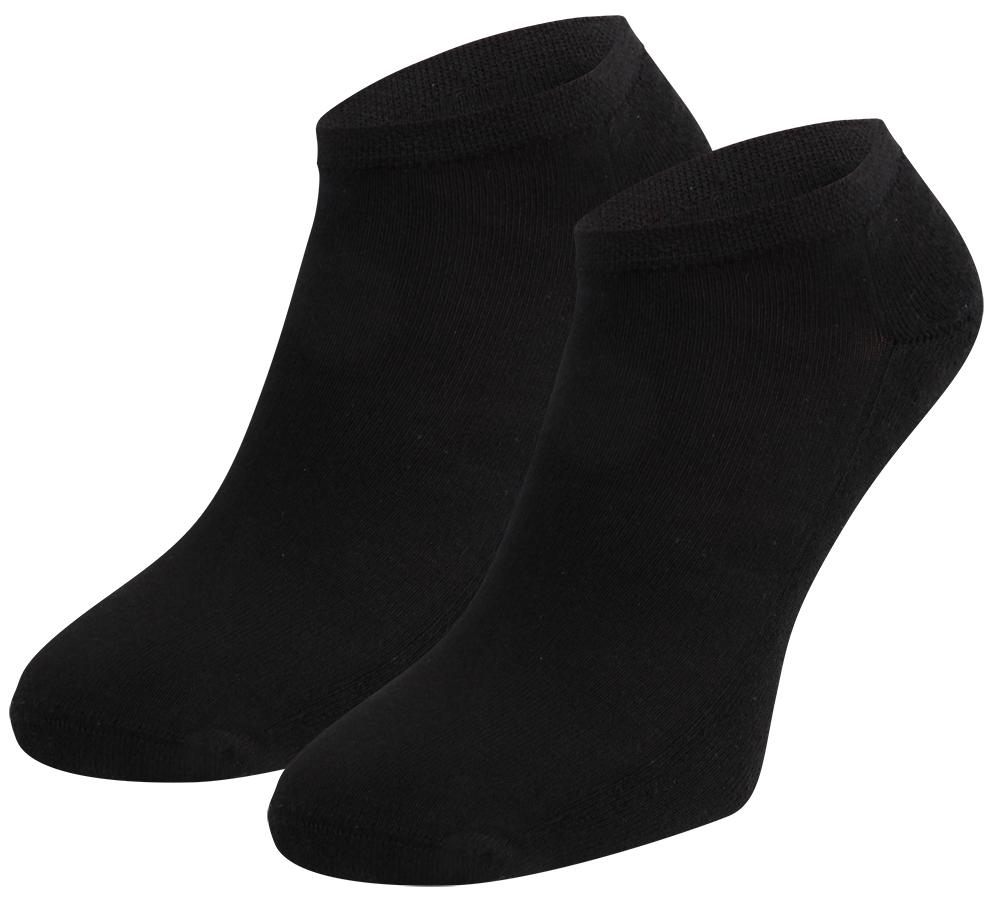Bamboe sneakersokken met badstof zool-36/40-Black