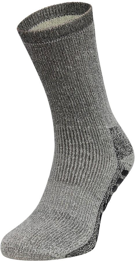 Merino wollen sokken met antislip-39/42-Antraciet