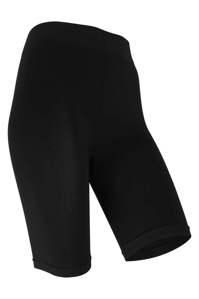 Seamless Short legging comfort waistband-Black-XXL Plus