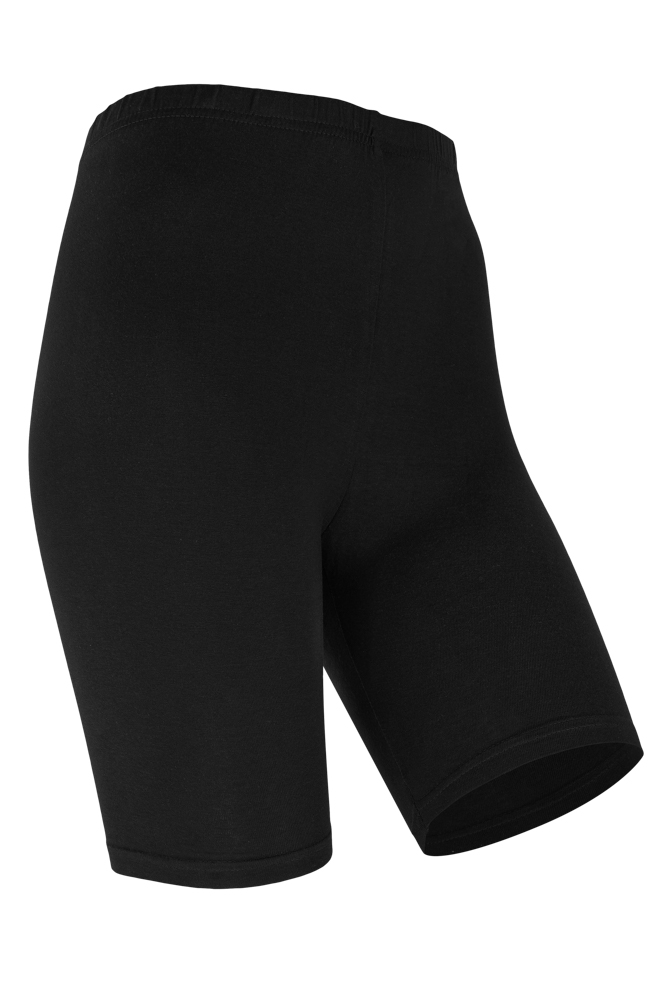 Dames short legging van katoen-L/XL-Black
