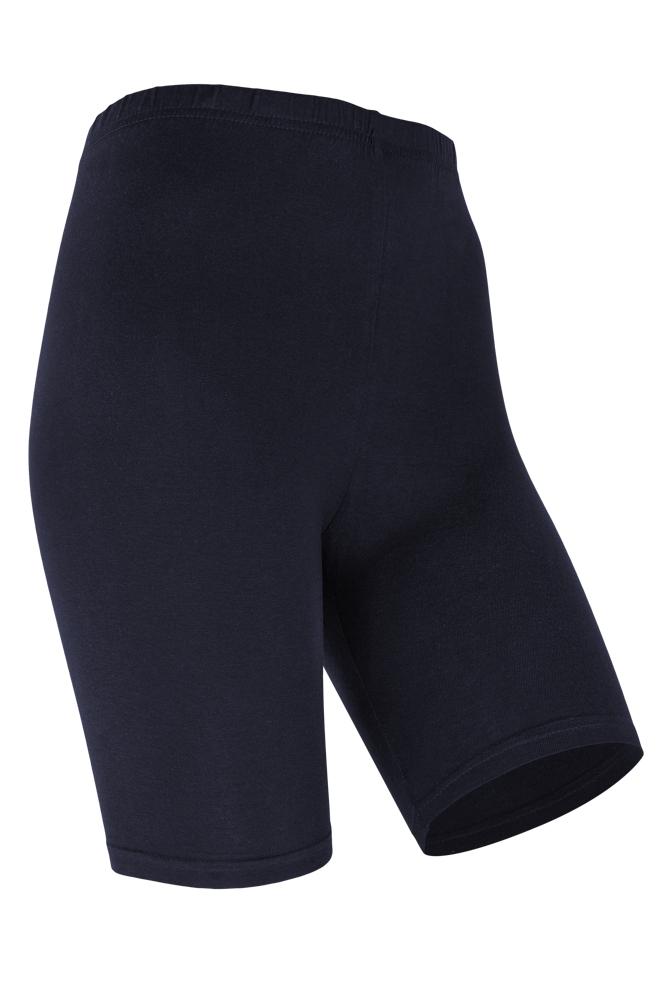 Dames short legging van katoen-L/XL-Marine