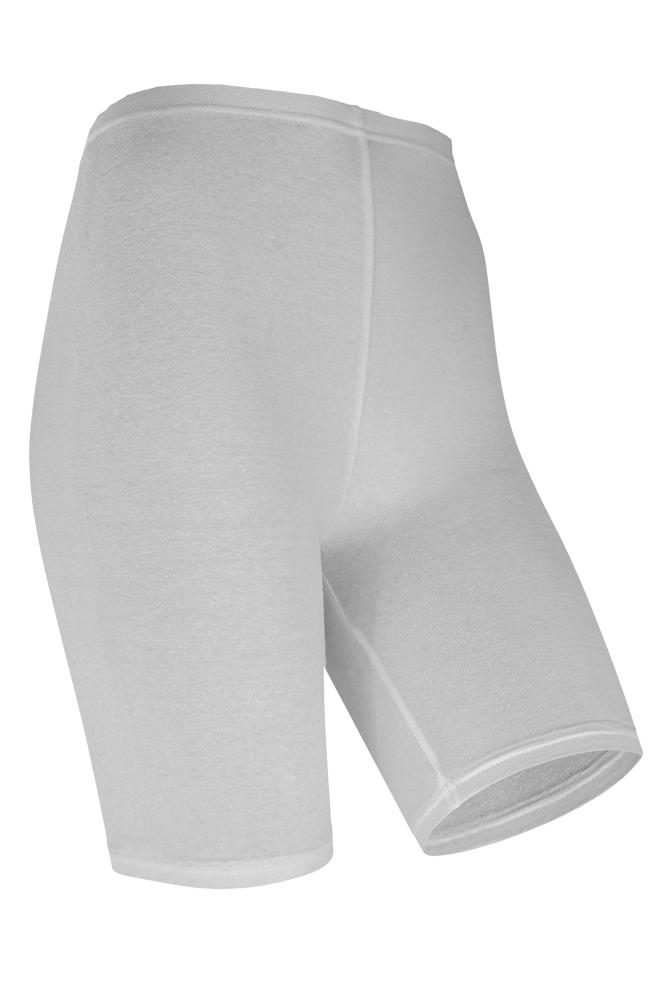 Dames short legging van katoen-XXL Plus-White