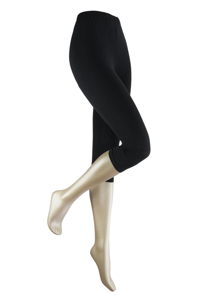 Capri dameslegging van katoen-L/XL-Black