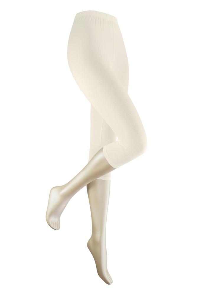 Capri dameslegging van katoen-XXL Plus-Off white