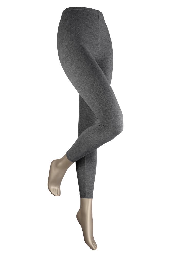 Dames legging van katoen-XXL Plus-Grey melange
