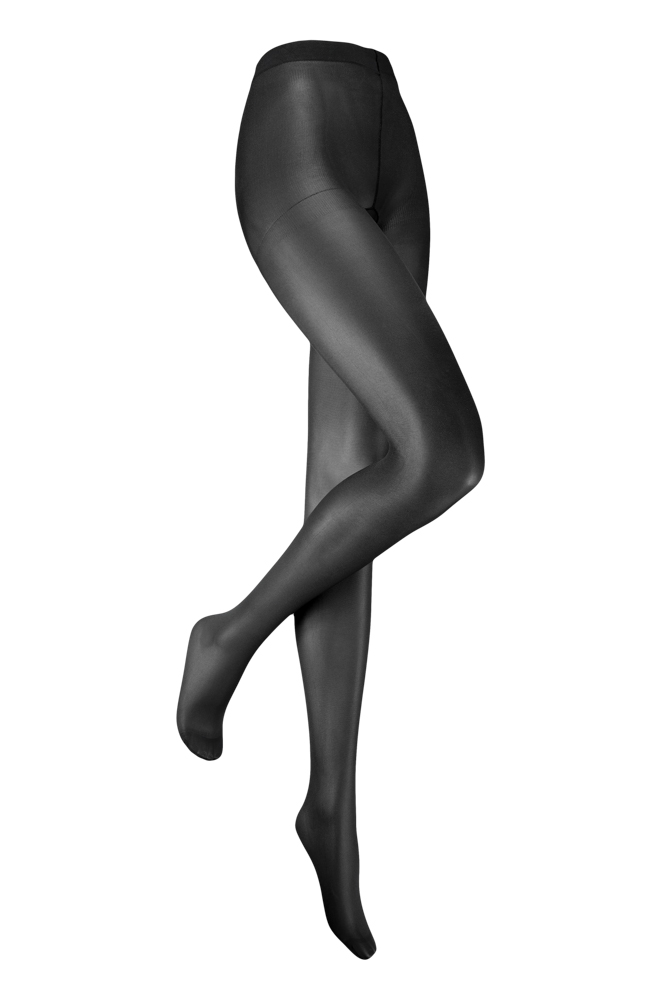 35 denier panty met glans-XXL Plus-Almost black