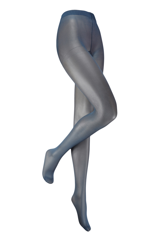 35 denier panty met glans-L/XL-Blue