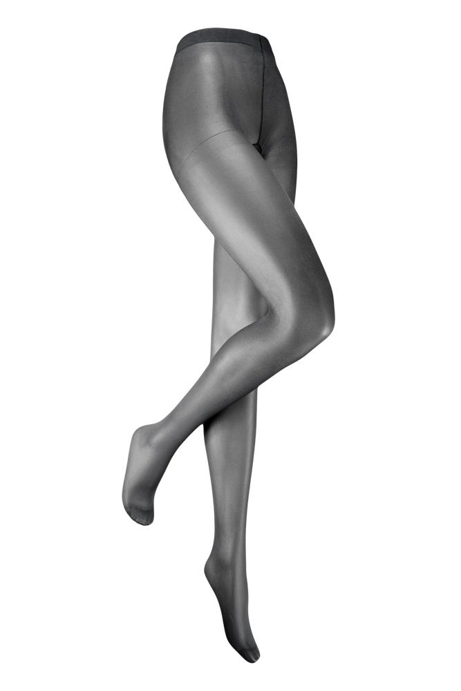 35 denier panty met glans-XXL-Silver