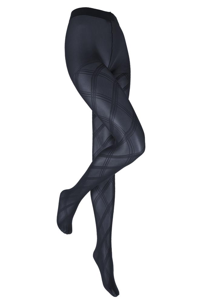 Marianne panty met wieber  motief ofte wel meteen grote ruit in diverse kleuren. deze grote strepen over het ...