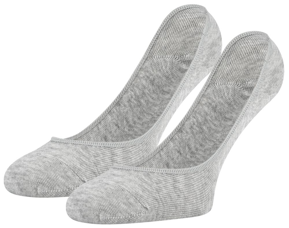 Footie kousenvoetje-Grey melange-39/42