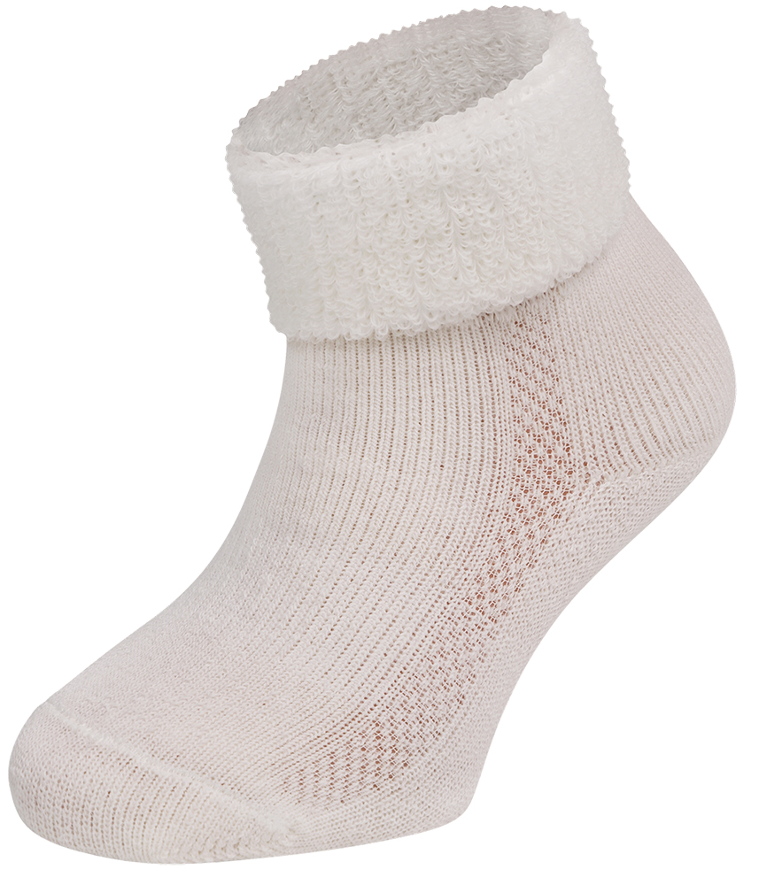 Merino wollen baby sokken-Ecru-0-4 M