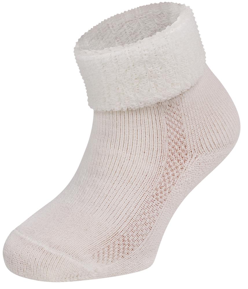 Merino wollen baby sokken-Ecru-4-9 M