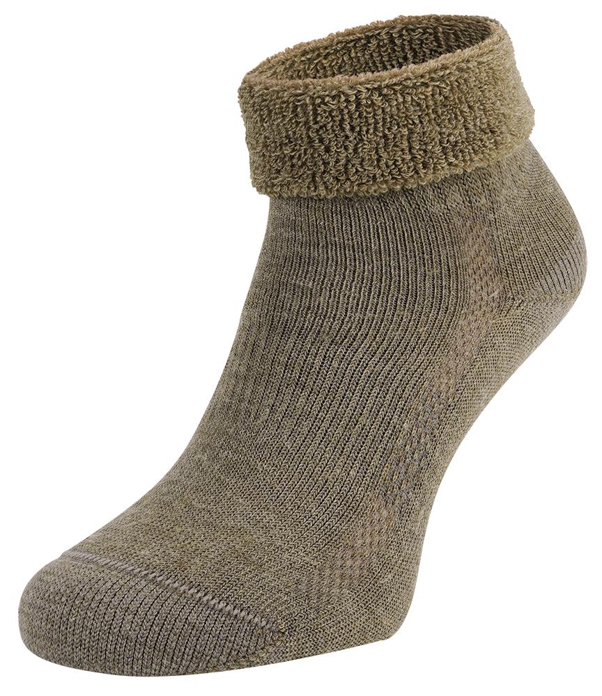 S9 Merino wollen sokken met badstof zool-35/38-Beige