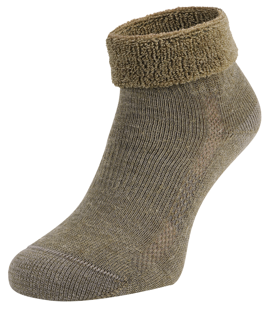 S9 Merino wollen sokken met badstof zool-43/45-Beige