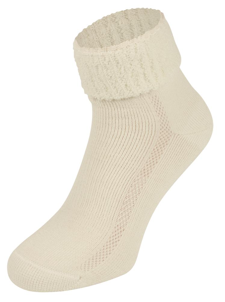 S9 Merino wollen sokken met badstof zool-35/38-Ecru