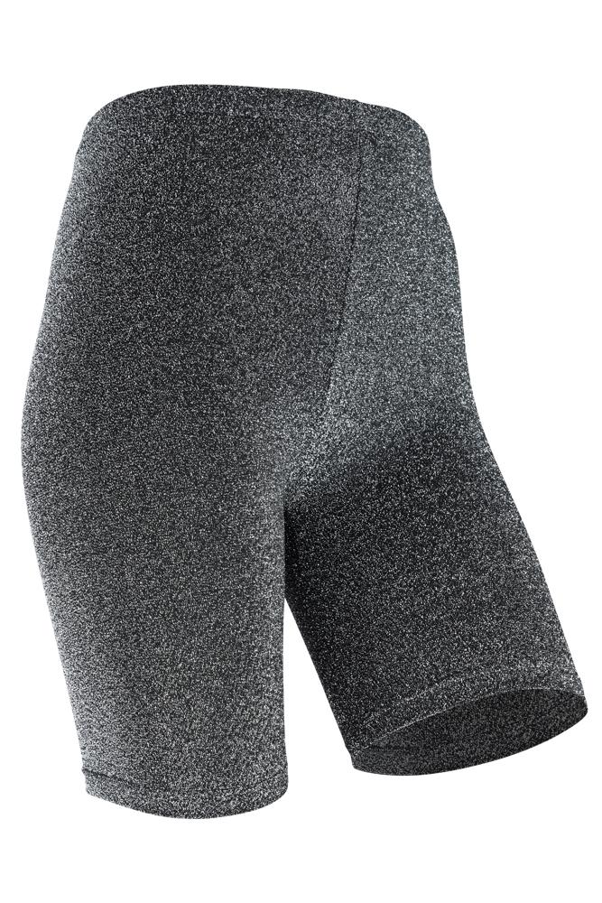 Short legging dames lurex-S/M