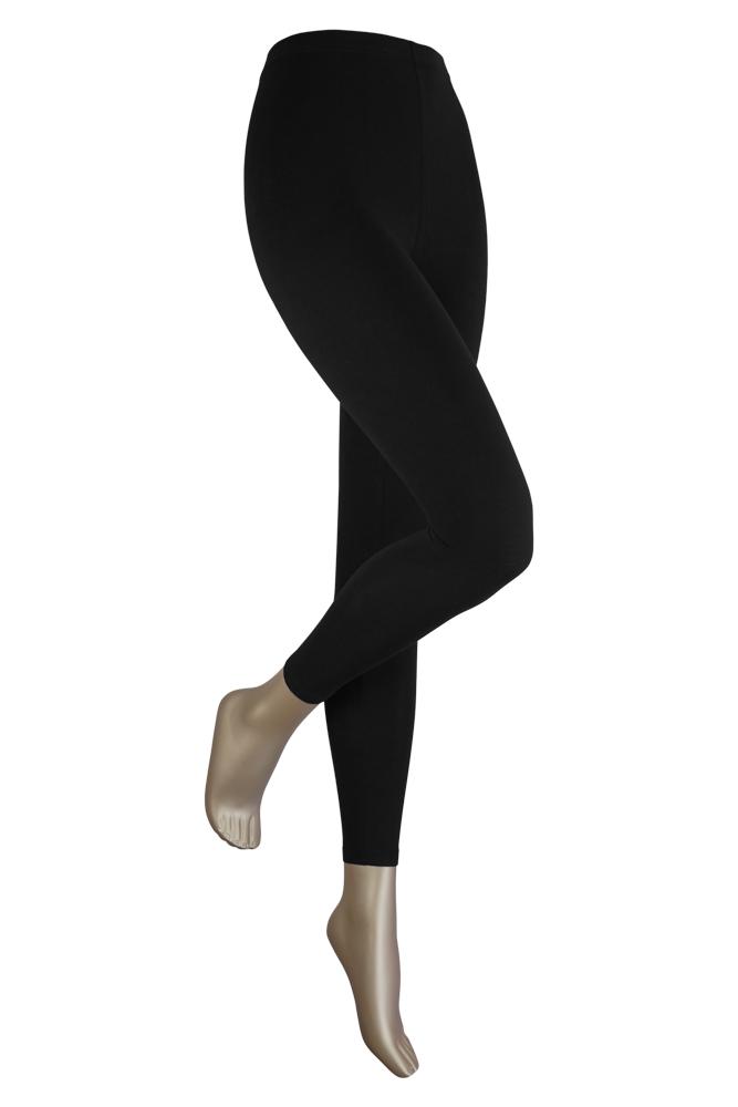 Lange dames legging van katoen-XXXL-Black