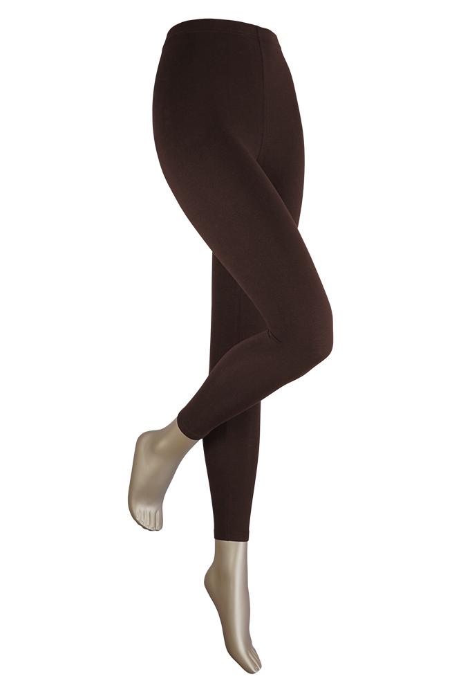 Lange dames legging van katoen-L/XL-Brown