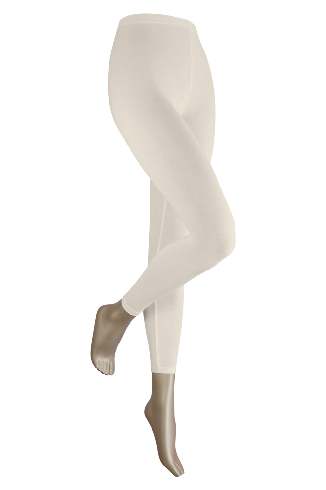 Lange dames legging van katoen-L/XL-Ecru