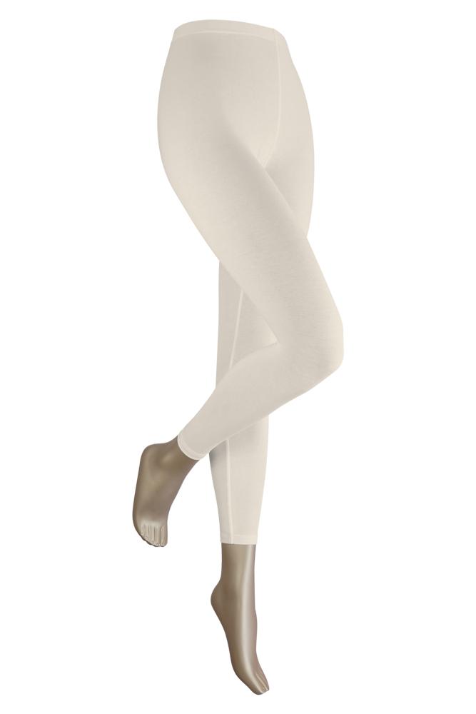 Lange dames legging van katoen-XXL-Ecru