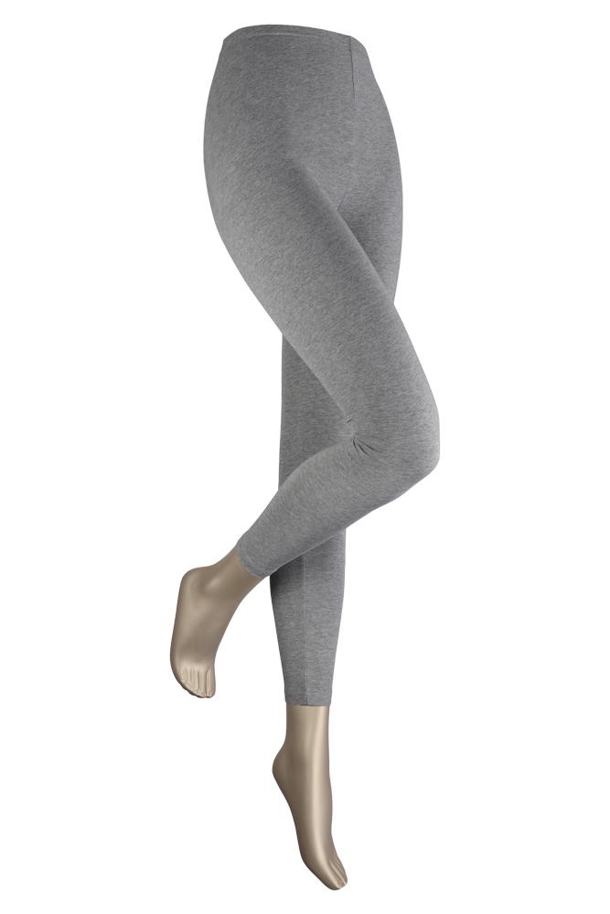 Lange dames legging van katoen-L/XL-Medium grey