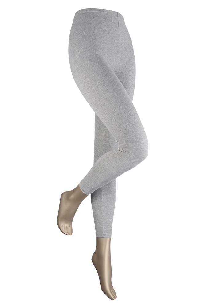 Lange dames legging van katoen-L/XL-Light grey