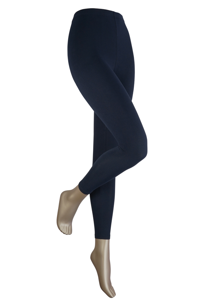 Lange dames legging van katoen-S/M-Marine