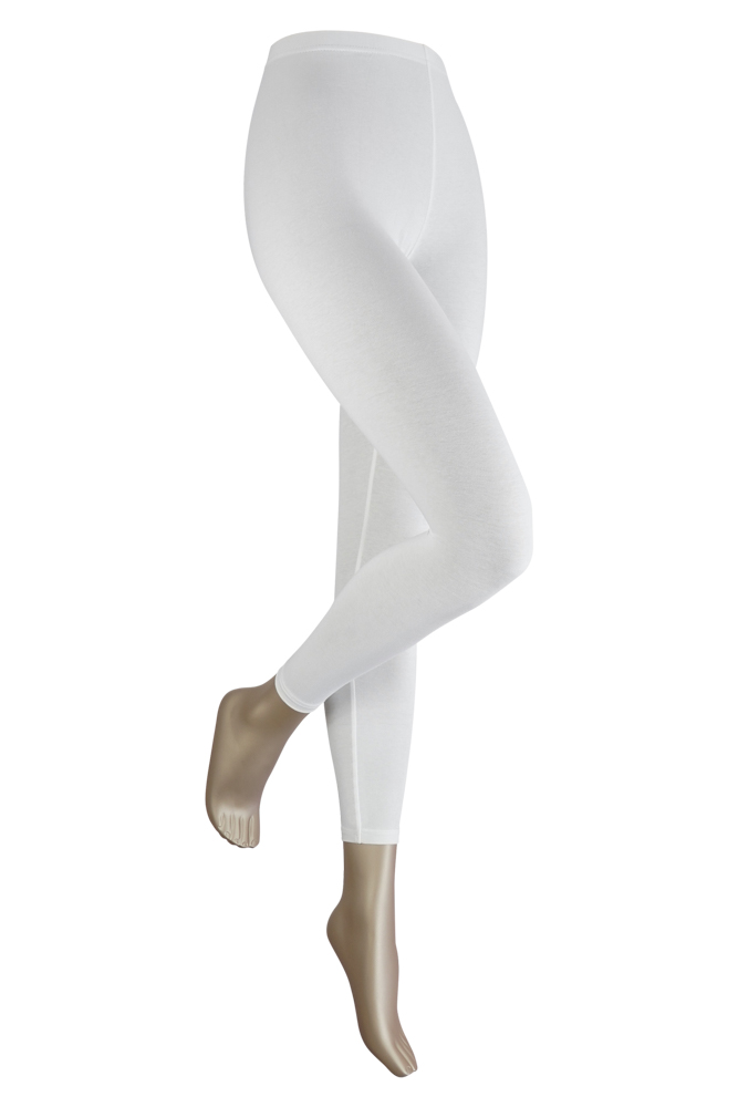 Lange dames legging van katoen-XXL-White
