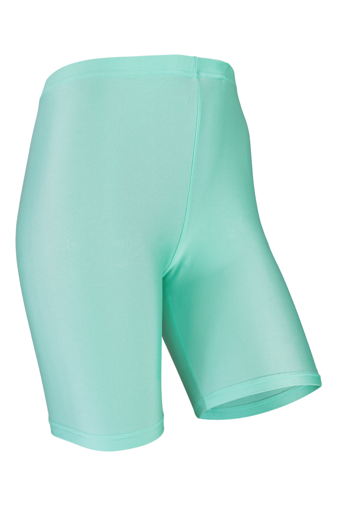 Dames short legging shiny-Mint-L/XL