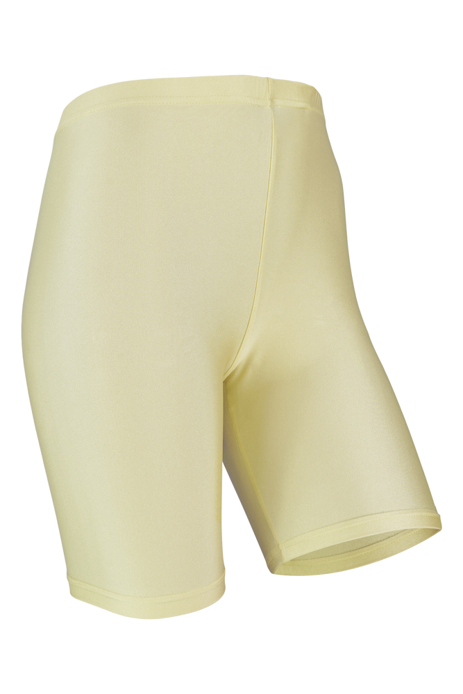 Dames short legging shiny-Yellow-XXL