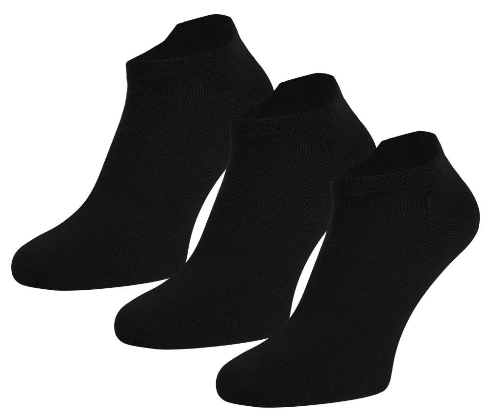 Sneakersokken van Katoen-39/42-Black