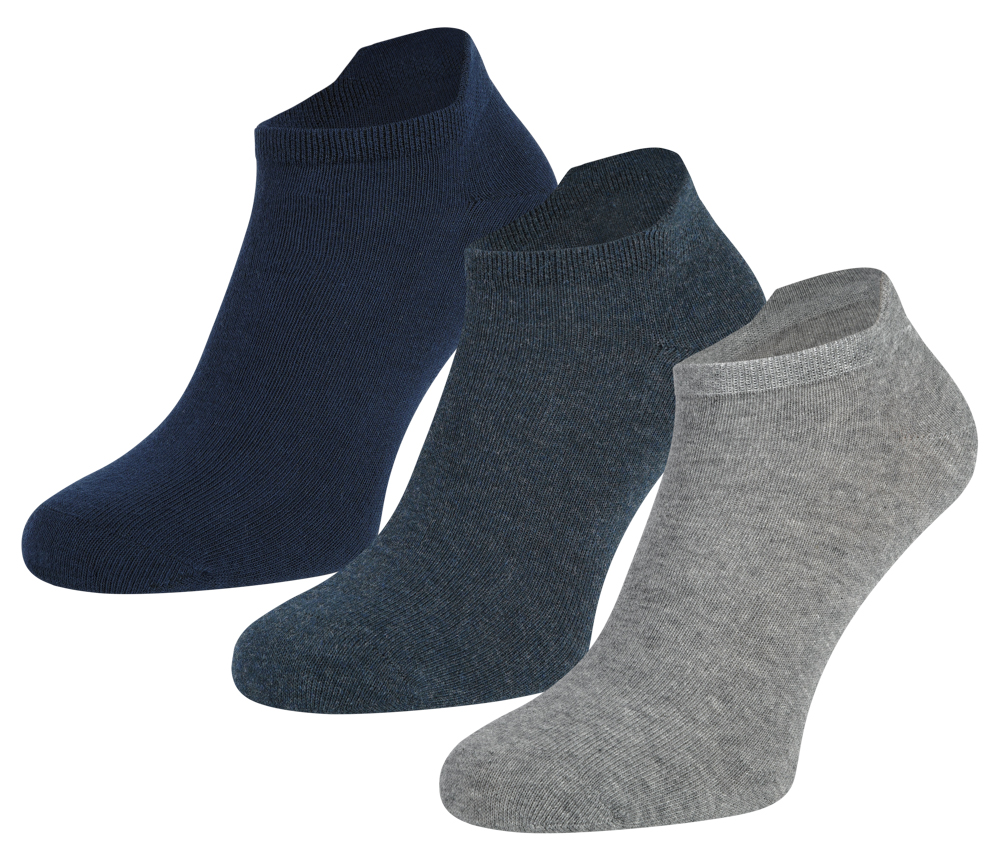 Sneakersokken van Katoen-39/42-Dark jeans melange