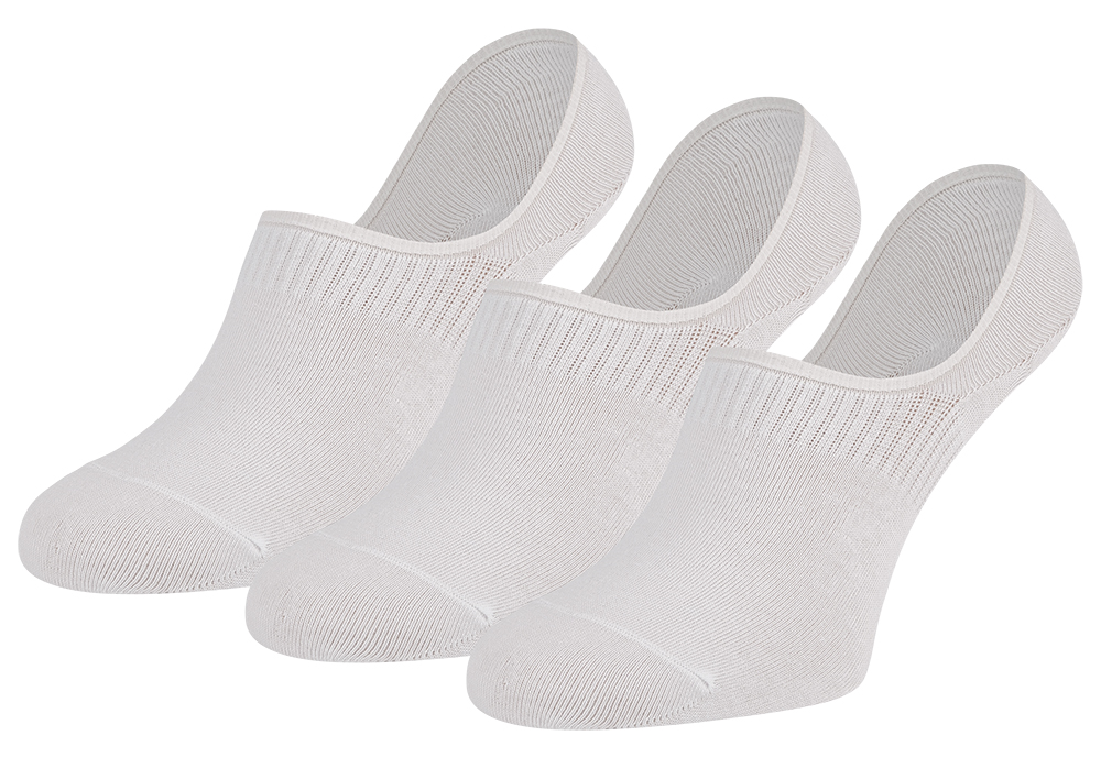 Kousenvoetje invisible 3-pack-White-36/41
