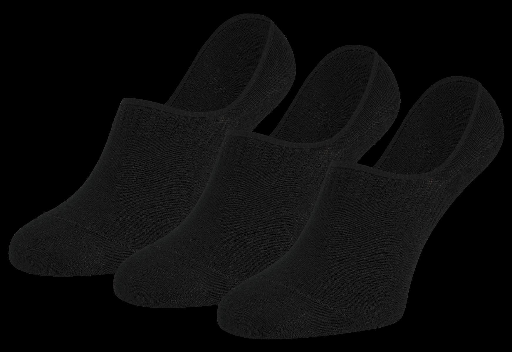 Kousenvoetje invisible 3-pack-Black-40/46