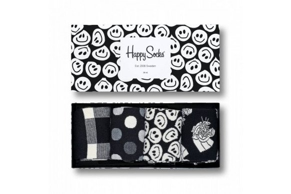Happy socks black and white giftbox-36/40
