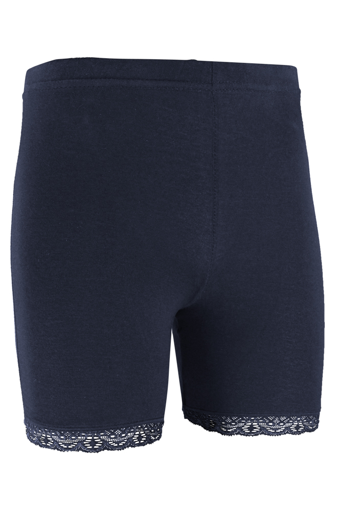 short legging van katoen met kant rand-Marine-110/116